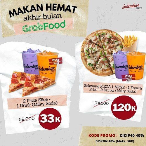 Selembar Pizza PROMO PAKET MAKAN HEMAT DARI GRABFOOD, DISKON 40% !! (29784352) di Kota Jakarta Selatan