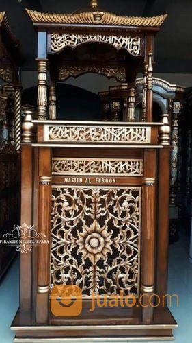 Mimbar Masjid Kubah Ukir Jepara (29787735) di Kab. Rokan Hilir