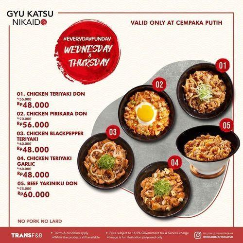 Gyu Katsu Nikaido Diskon 20% Selected Item #EverydayFunDay (29791422) di Kota Jakarta Selatan