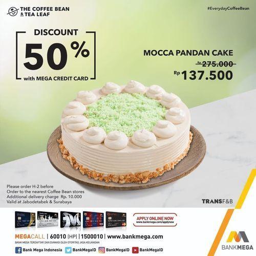 The Coffee Bean Discount 50 % with MEGA CREDIT CARD !! (29791619) di Kota Jakarta Selatan
