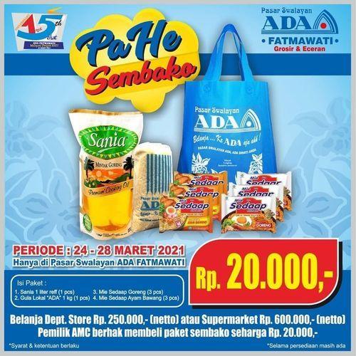 HUT ADA SWALAYAN FATMAWATI PAKET HEMAT !! (29800166) di Kota Jakarta Selatan