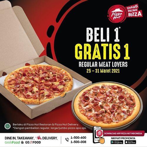 Pizza Hut BELI 1 GRATIS 1 !! (29800209) di Kota Jakarta Selatan