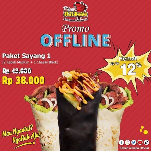 Kebab Alibaba Ada promo terbaru nih dari @kebabalibabaofficial namanya paket sayang 1 !! (29815510) di Kota Jakarta Selatan