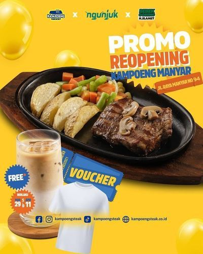 Kampoeng Steak PROMO REOPENING KAMPOENG MANYAR !! (29836109) di Kota Surabaya