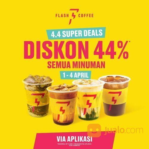 FLASH COFFEE 4.4 Super Deals! Diskon 44%* semua minuman 1 - 4 April 2021 !! (29842751) di Kota Jakarta Selatan