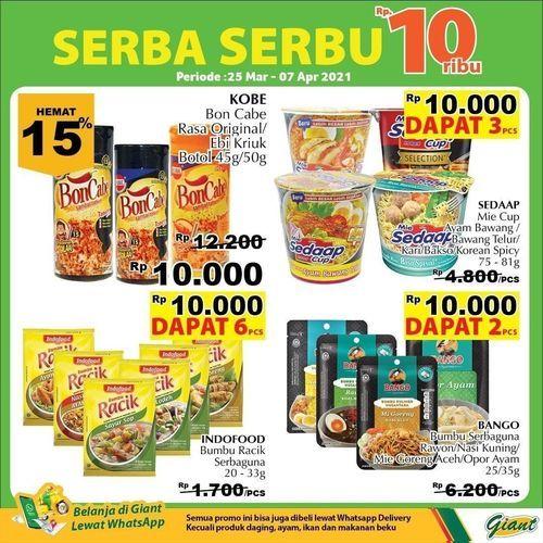 GIANT Serba Serbu Rp. 10 Ribu !! (29854206) di Kota Jakarta Selatan
