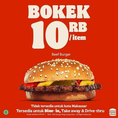 Burger King BOKEK 10 RB/ item !! (29854675) di Kota Jakarta Selatan