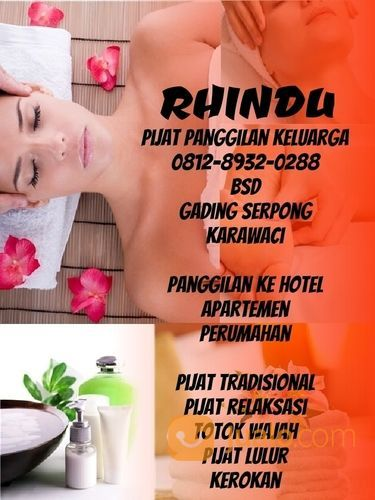Pijat Panggilan Bsd Serpong Rhindu Massage (29854817) di Kota Tangerang Selatan