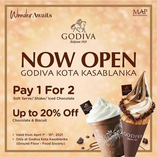 GODIVA Kota Kasablanka Pay 1 For 2 !! (29858139) di Kota Jakarta Selatan