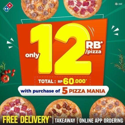 Dominos - Pizza Mania only 12 RB/ pizza !! (29858400) di Kota Jakarta Selatan