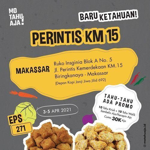 Mo Tahu Aja Promo Special Launching tahu - tahu ada promo 3-5 April 2021 !! (29858558) di Kota Makassar