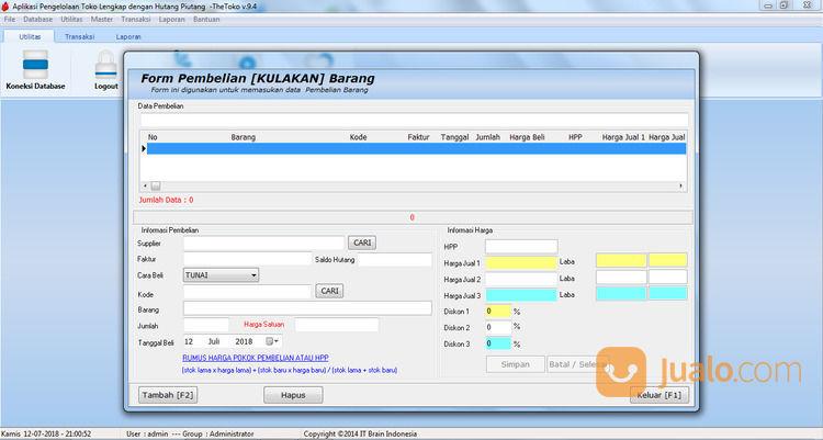 TheToko Aplikasi Kasir Terbaik 2021 (29890920) di Kab. Tanjung Jabung Barat