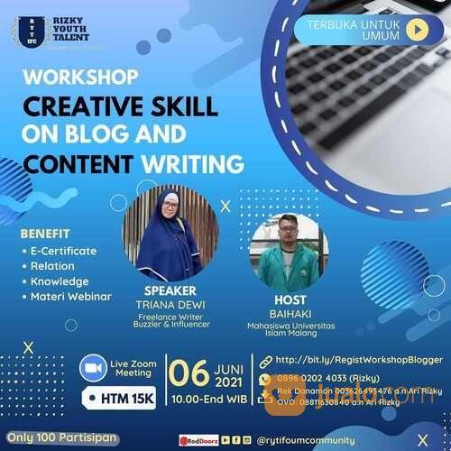 Webinar Creativity Skill On Blog And Creative Writing (29894196) di Kab. Sidoarjo