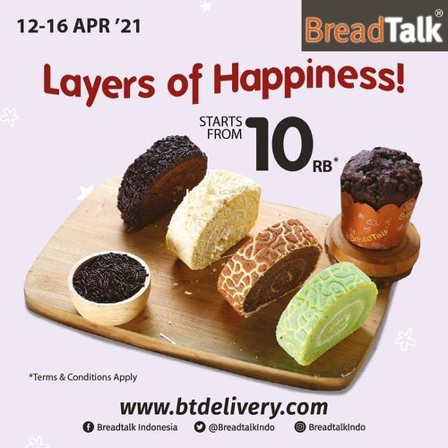 BreadTalk Enjoy your favorite Dry Cakes and Lapis Slice start from 10rb* (29900856) di Kota Jakarta Selatan