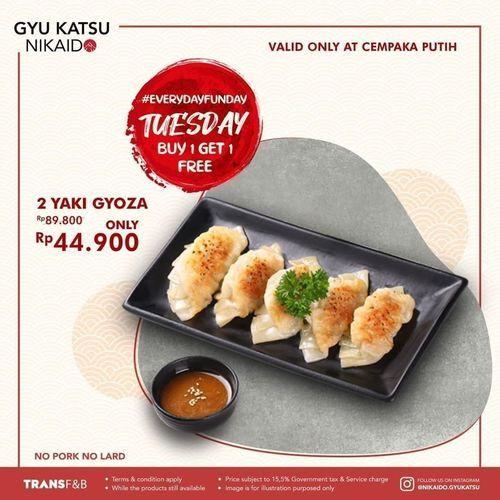 Gyu Katsu Nikaido Every day funday Tuesday Buy 1 Get 1 FREE (29900954) di Kota Jakarta Pusat