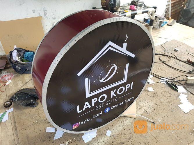 Neonbox Bulat Backlite 80cm (29901225) di Kota Medan