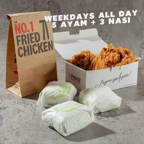 KFC Week days All Day 5 Ayam + 3 Nasi (29901438) di Kota Jakarta Selatan