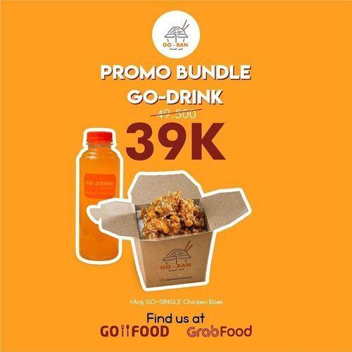 GO-BAN Takeout PROMO BUNDLE GO-DRINK: MEAL + DRINK STARTS FROM 39K! (29901608) di Kota Jakarta Selatan