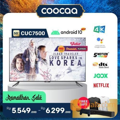 "[SELURUH INDONESIA] TV COOCAA 50"" CUC7500 ANDROID 10 - 4K HDR - GOOGLE ASSISTANT - DOLBY AUDIO (29906659) di Kota Jakarta Utara"