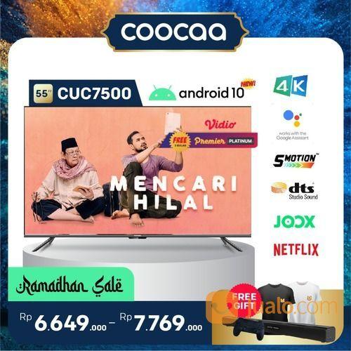 "[SELURUH INDONESIA] TV COOCAA 55"" CUC7500 ANDROID 10 - 4K HDR - GOOGLE ASSISTANT - DOLBY AUDIO (29906661) di Kota Jakarta Utara"