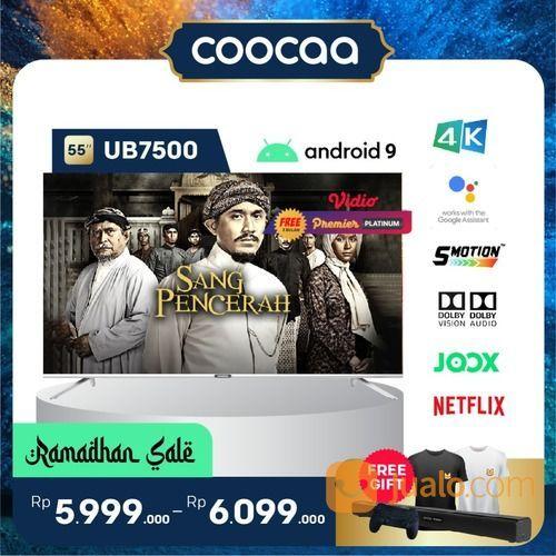 "[SELURUH INDONESIA] TV COOCAA 55"" UB7500 ANDROID 9 - 4K - GOOGLE ASSISTANT - DOLBY VISION & AUDIO (29906675) di Kota Jakarta Utara"