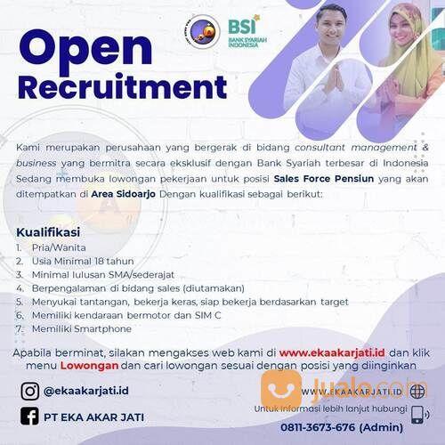 Lowongan Kerja Sales Force Mitra Bank Syariah Indonesia Bsi Kota Sidoarjo Kab Sidoarjo Jualo