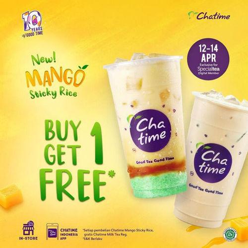 Chatime New Mango Sticky Rice Buy 1 Get 1 (29909527) di Kota Jakarta Selatan