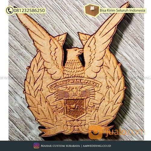 Cutting Laser Logo Angkatan Udara Mdf & Akrilik Bahan Mahar (29918402) di Kab. Sidoarjo