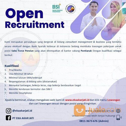 Lowongan Kerja Sales Force Mitra Bank Syariah Indonesia Bsi Kota Pontianak Pontianak Jualo