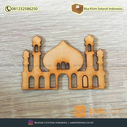Chipboard Mdf Cutting Laser Bentuk Masjid / Untuk Bahan Scrapbook / Bahan Mahar (29963388) di Kab. Sidoarjo