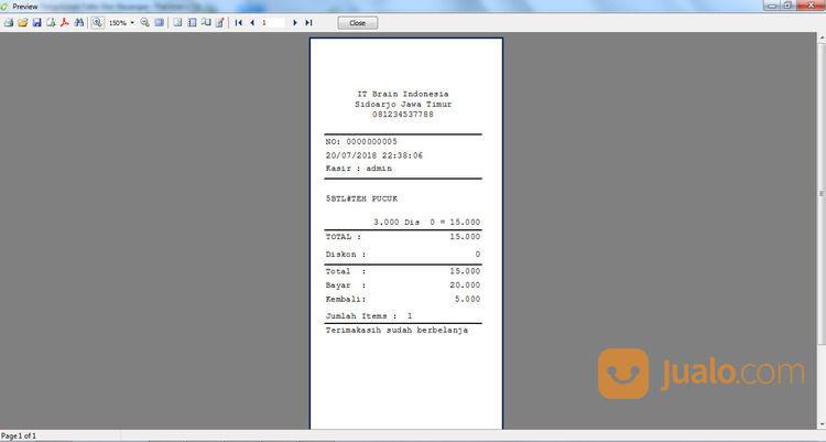 Aplikasi Pengolahan Kasir TheStore Denga Struk (29966426) di Kab. Tanjung Jabung Barat