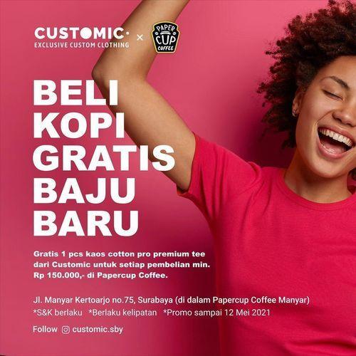 Customic Beli Kopi Gratis Baju Baru (30023194) di Kota Surabaya