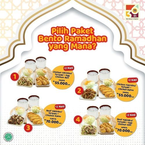 HokBen Paket Bento Ramadhan (30023426) di Kota Jakarta Selatan