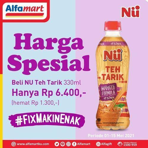 Alfamart NU Teh Tarik 330ml promo Harga Spesial Hanya Rp 6.400 (30023597) di Kota Jakarta Selatan