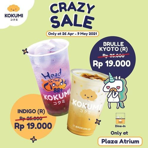 KOKUMI promo Crazy Sale (30023664) di Kota Jakarta Selatan