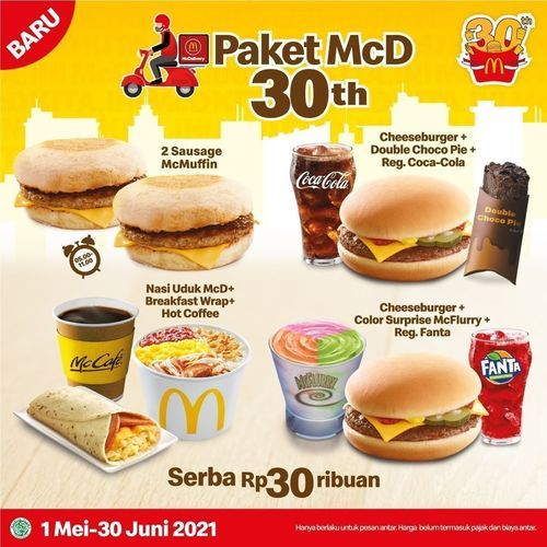 McDonald's serba Rp30 ribuan aja (30023703) di Kota Jakarta Selatan