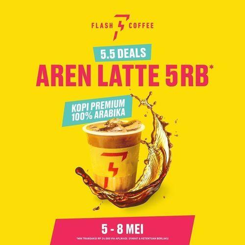 Flash Coffee 5.5 DEALS AREN LATTE 5 RB (30036103) di Kota Jakarta Selatan