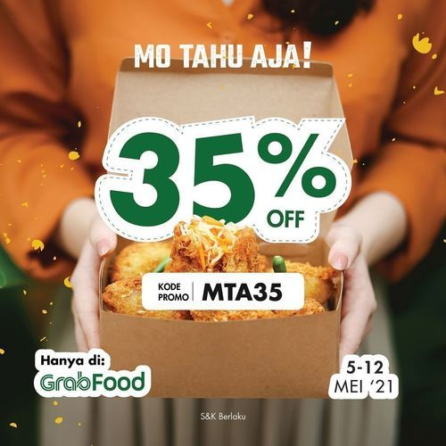 Mo Tahu Aja -TAHU-TAHU DISCOUNT 35% HADIR LAGI DI GRABFOOD (30048555) di Kota Jakarta Selatan