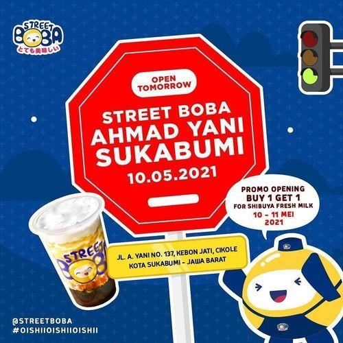 Street Boba Promo Opening BUY 1 GET 1 (30066287) di Kab. Sukabumi