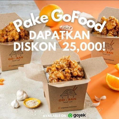 GO-BAN Takeout PAKET GOFOOD: DISKON 25,000 SEMUA MENU! (30066304) di Kota Jakarta Selatan