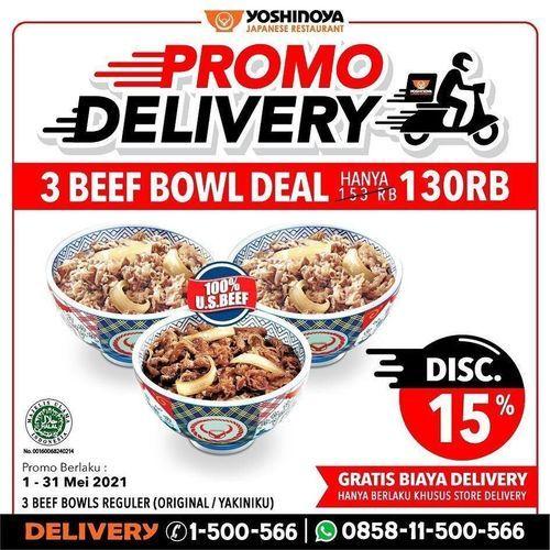 YOSHINOYA Promo Delivery !! (30067612) di Kota Jakarta Selatan