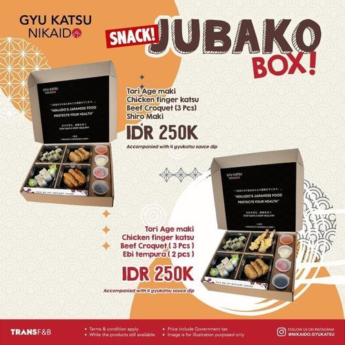 Gyu Katsu Nikaido Promo Meal Jubako Box (30067698) di Kota Jakarta Selatan