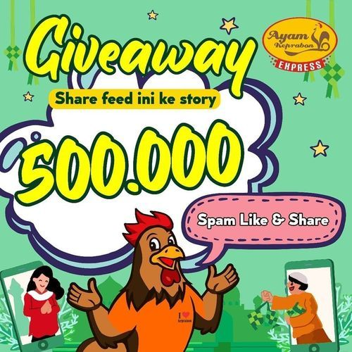 Ayam Geprek Keprabon GIVEAWAY ALERT - BERHADIAH SALDO OVO RP 500.000 (30067976) di Kota Jakarta Selatan