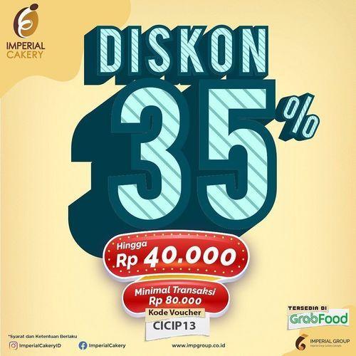 Imperial Cakery Dapatkan discount 35% (30094307) di Kota Jakarta Selatan