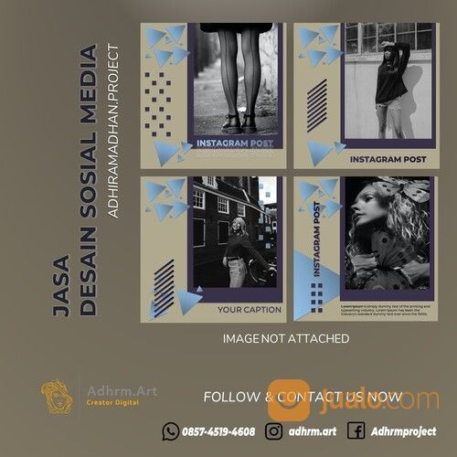 TERMURAH!! WA: 0857-4519-4608, Jasa Design Social Media Nganjuk (30166961) di Kab. Nganjuk