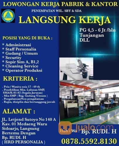 Loker Cleaning Service Surabaya Jualo