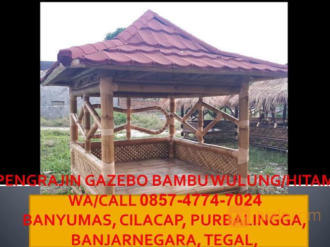 Murah!! Call 0857-4774-7024 Pengrajin Gazebo Bambu Depan Rumah Minimalis Banjarnegara (30234965) di Kab. Cilacap