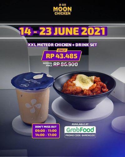 Moon Chicken Promo XXL Meteor Chicken + drink set only in GrabFood. (30253386) di Kota Jakarta Selatan