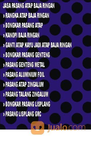 Jasa Pasang Atap Baja Ringan Kabupaten Bekasi (30372490) di Kab. Bekasi