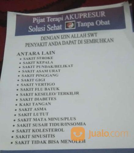 Terapi Akupresur Untuk Kesehatan (30431059) di Kota Jakarta Selatan